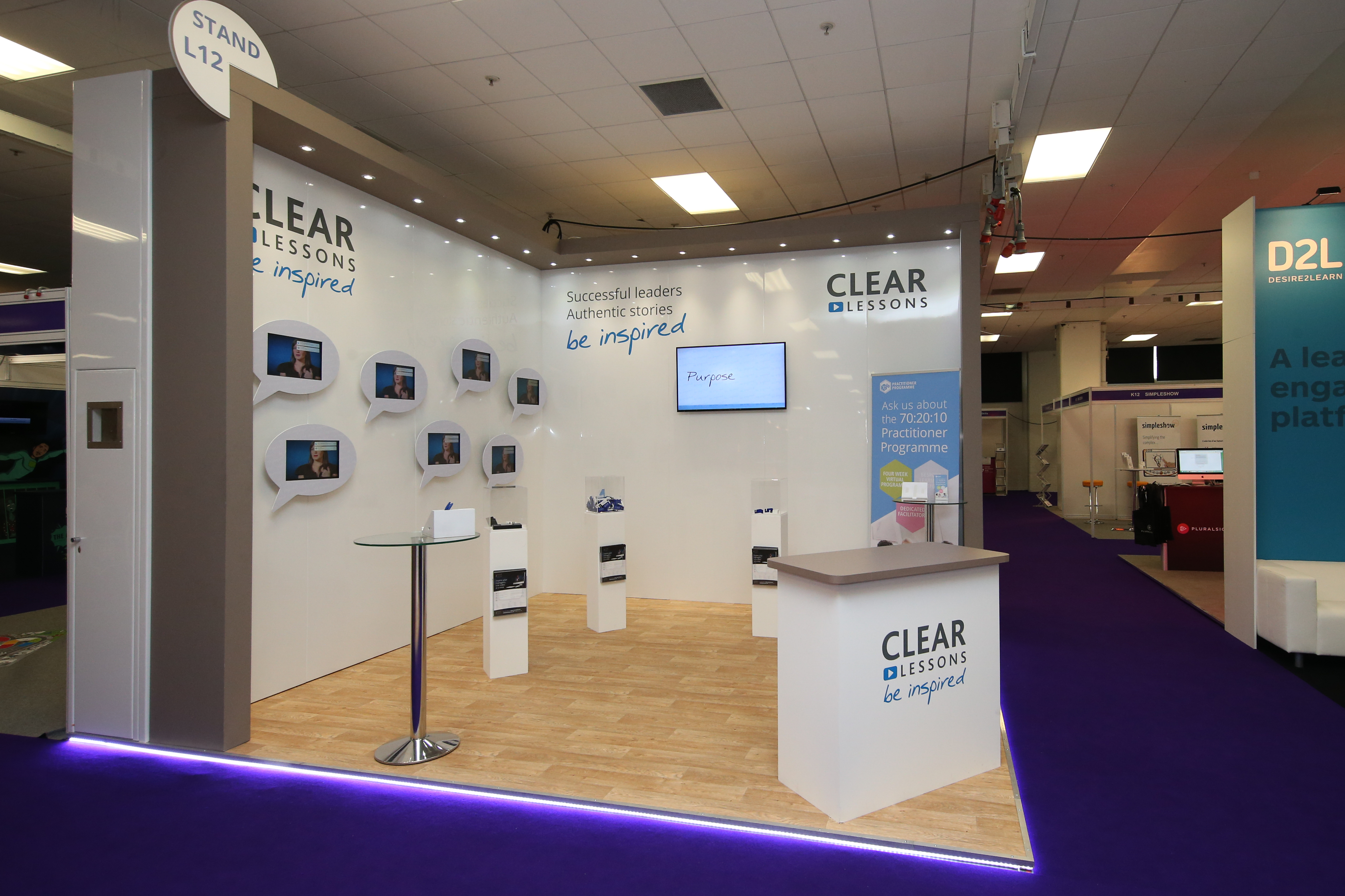 clear lesson bespoke exhibition package