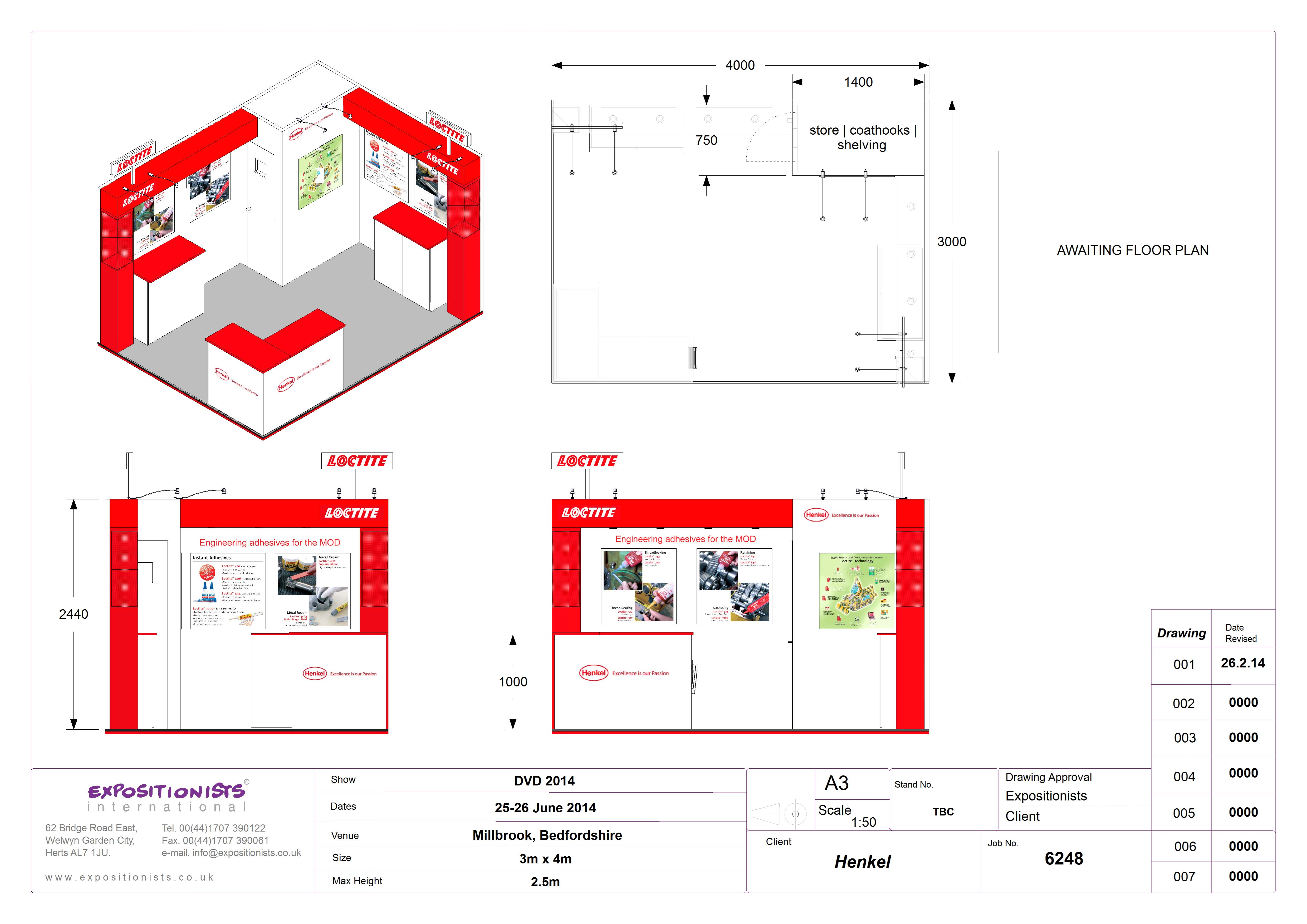 Exhibition stand contractor for Henkel